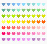 Fototapety Colorful hearts collection