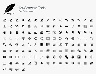 124 Software Tools Pixel Perfect Icons