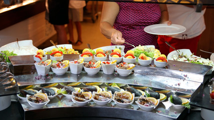 Buffet Self-service Food Display
