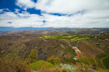 Gran Canaria, aerial view west from Pico de Bandama