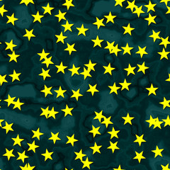 Star shapes with seamless generated texture background