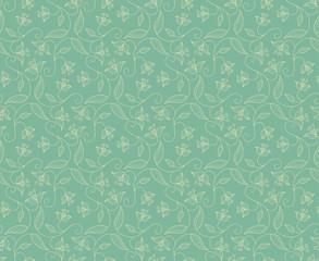 floral ornament celadon
