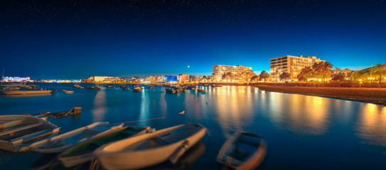 Ibiza island night view