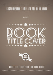 Minimal modern book cover template