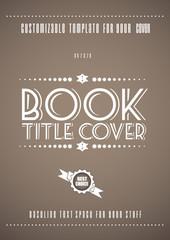 Minimal modern book cover template
