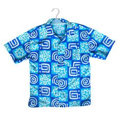 Blue shirt on a hanger