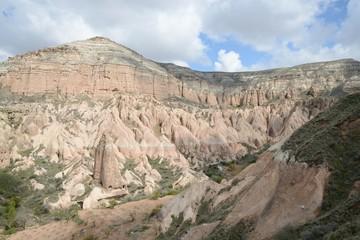 Magnificent rock landscape in Cappadocia.