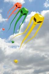 Space invader kites descending