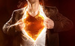 Leinwanddruck Bild - Burning Hero