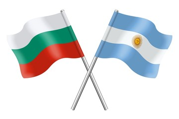 Flags: Bulgaria and Argentina