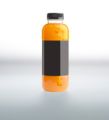 juice in bottle with blank label