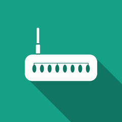 router Icon with long shadow