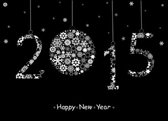 Vector_2015 Happy New Year greeting card