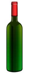 Klassische Rotweinflasche, freigestellt