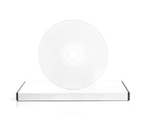 DvD Blank Case With Blank Disk On Top