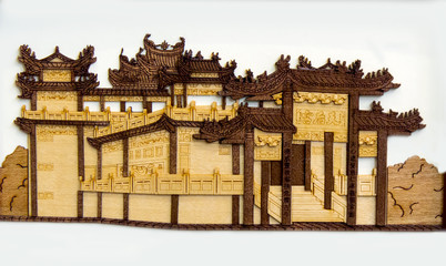 chinese old building carving