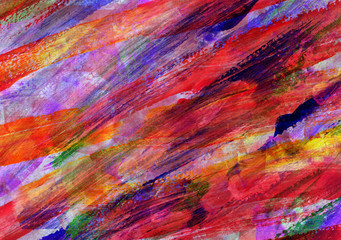 Childs abstract art painting
