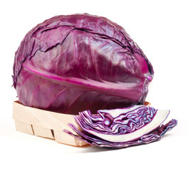 blue cabbage isolated