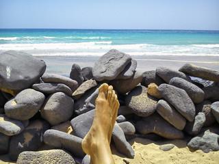 Relajado en la playa