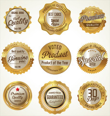 Golden Premium Quality retro Labels