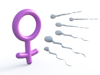 sexual symbol woman and sperms