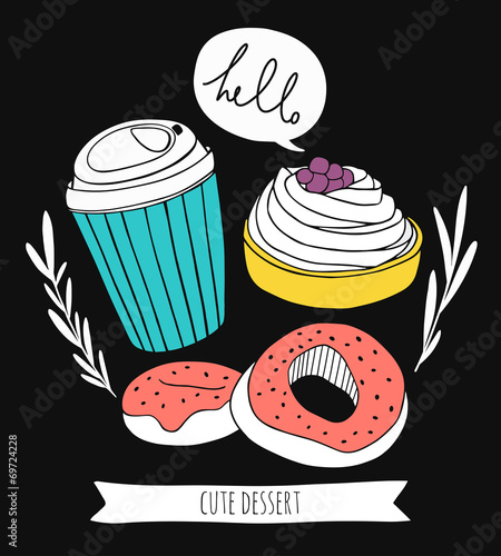 ladny-design-kuchni-kawa-i-slodycze-wyciagnac-reke