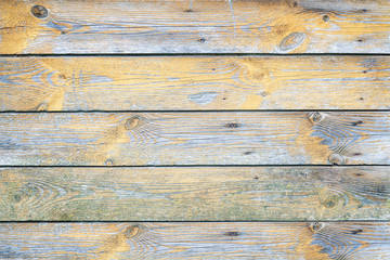 Old painted wooden plank wall