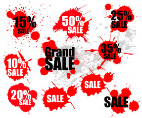 Sale red tags clearance shopping Grunge Graphic