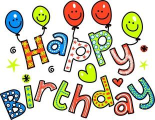 Happy Birthday Celebration Text