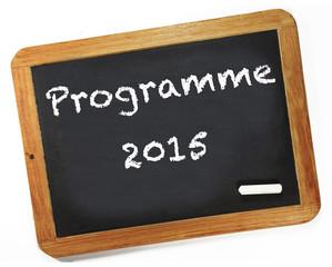 Programme 2015 sur ardoise