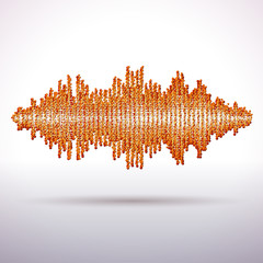 Sound waveform made of chaotic balls