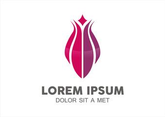 Lotus flower abstract vector logo design template. Health & SPA