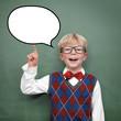 Kind mit Sprechblase