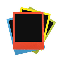Color polaroid frames