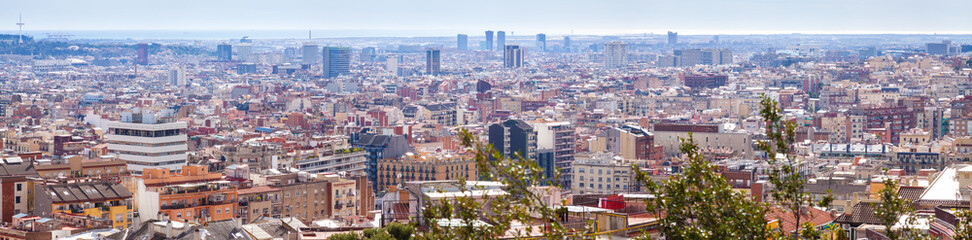 Top panoramic view of Barcelona