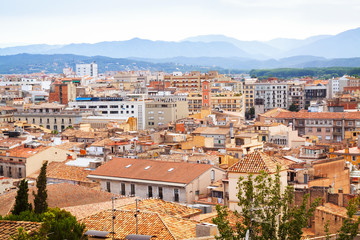 view of Girona in cloudy day