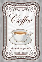 Vintage coffee poster. vector illustration