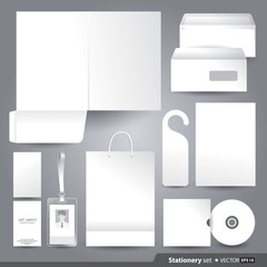 Vector templates set of corporate identity for your design.