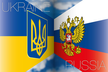 ukraine vs russia flags