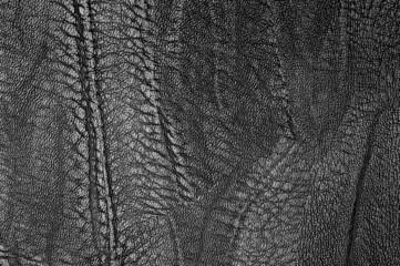 Black textured soft black leather