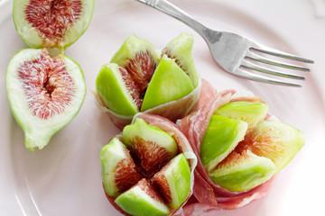 rioe figs with Parma ham