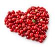 Obrazy na płótnie, fototapety, zdjęcia, fotoobrazy drukowane : heart shape of fresh berries