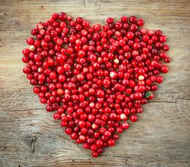 heart shape of fresh berries