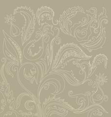 filigree  floral oriental pattern