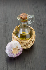 Garlic with oil
