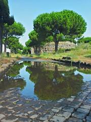 Via Appia Antica dopo la pioggia