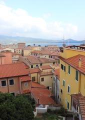 veduta del centro storico di Portoferraio, Isola d'Elba, Italia