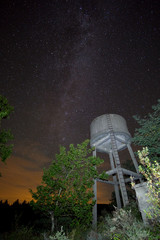 Milky Way and water tank