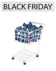Mobile Phone in Black Friday Shopping Cart