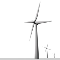 Windenergie opgewekt in windmolen park